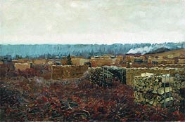 Isaac Levitan | Wood-Cutting , 1898 | Giclée Canvas Print