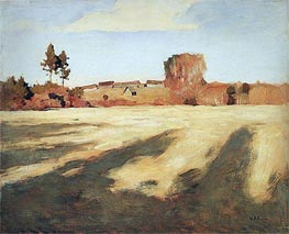Isaac Levitan | Reaped Field, 1897 | Giclée Canvas Print
