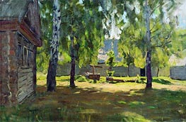 Isaac Levitan | Sunny Day. At a Log Hut, 1898 | Giclée Canvas Print