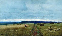 Isaac Levitan | Gloomy Day. Harvest, c.1880/90 | Giclée Canvas Print