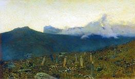 Isaac Levitan | The Tatar Cemetery. Crimea, 1886 | Giclée Canvas Print