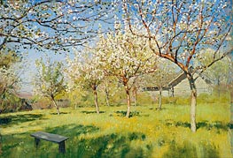 Isaac Levitan | Blossoming Apple-Trees, 1896 | Giclée Canvas Print