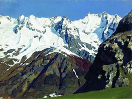 Isaac Levitan | Mont Blanc Mountains, 1897 | Giclée Canvas Print