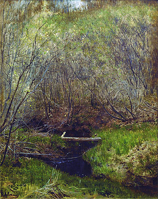 Spring in the Forest, 1882 | Isaac Levitan | Painting Reproduction