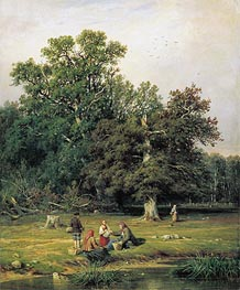 Ivan Shishkin | Mushroom Hunting (Gathering Mushrooms) | Giclée Canvas Print
