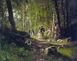 Ivan Shishkin | A Walk in the Forest | Giclée Canvas Print