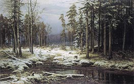 Ivan Shishkin | The First Snow | Giclée Canvas Print
