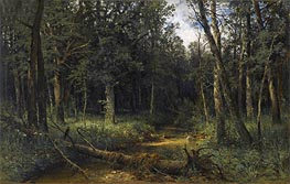 Ivan Shishkin | The Dark Wood, 1876 | Giclée Canvas Print