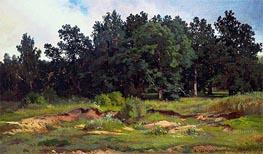 Ivan Shishkin | Oak Woods in Gray Day | Giclée Canvas Print