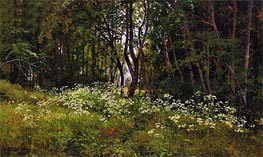 Ivan Shishkin | Flowers at the Forest Edge, 1893 | Giclée Canvas Print