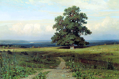 Amidst the Spreading Vale (Among a Valley...), 1883 | Ivan Shishkin | Painting Reproduction