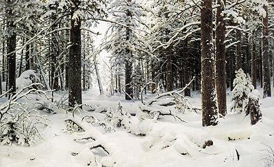 Winter, 1890   Ivan Shishkin   Painting Reproduction