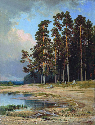 The Forest, 1885   Ivan Shishkin   Painting Reproduction