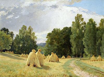 Haystacks, Preobrazhenskoe, 1890   Ivan Shishkin   Painting Reproduction