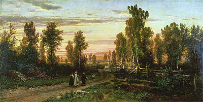 Evening, 1871 | Ivan Shishkin | Painting Reproduction