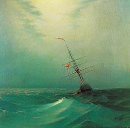Aivazovsky | Night. A Blue Wave | Giclée Canvas Print