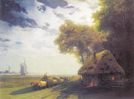 Aivazovsky | Ukrainian Landscape at the Moon | Giclée Canvas Print