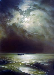 Aivazovsky | The Black Sea at Night | Giclée Canvas Print