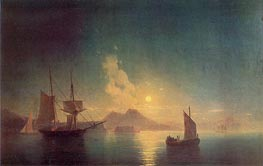 Aivazovsky | The Bay of Naples by Moonlight | Giclée Canvas Print