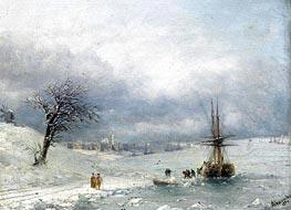 Aivazovsky | Winter Landscape | Giclée Canvas Print