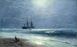 Aivazovsky | Moonlit Landing | Giclée Canvas Print