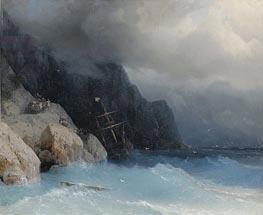Aivazovsky | Survivors of a Shipwreck on a Rocky Path | Giclée Canvas Print