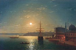 Aivazovsky | Golden Horn, Turkey | Giclée Canvas Print