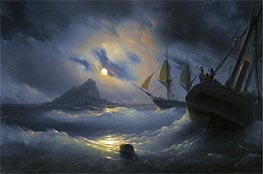 Aivazovsky | Gibraltar by Night | Giclée Canvas Print