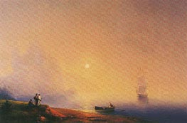 Aivazovsky | Crimean Tartars on the Sea Shore, 1850 | Giclée Canvas Print