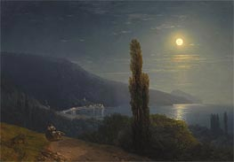 Aivazovsky | Crimean Coast in Moonlight, 1859 | Giclée Canvas Print
