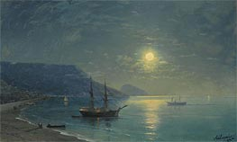 Aivazovsky | Evening in Crimea, 1895 | Giclée Canvas Print