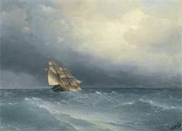 Aivazovsky | The Lifting Storm, 1880 | Giclée Canvas Print