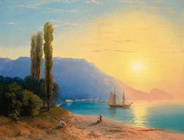 Aivazovsky | Sunset over Yalta, 1861 | Giclée Canvas Print