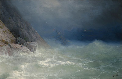 The Survivor, 1880 | Aivazovsky | Painting Reproduction