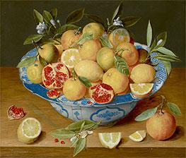 Still Life with Lemons, Oranges, and a Pomegranate, c.1620/40 by Jacob van Hulsdonck   Giclée Canvas Print