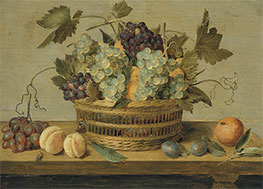 Nectarines and Grapes in a Basket, Undated by Jacob van Hulsdonck   Giclée Canvas Print