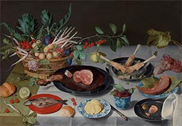Still Life with Meat, Fish, Vegetables, and Fruit, c.1615/20 by Jacob van Hulsdonck | Giclée Canvas Print