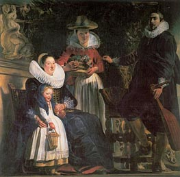 Jacob Jordaens | The Artist and his Family, c.1621/22 | Giclée Canvas Print