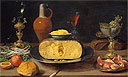 Es - Breakfast Piece with Cheese and Goblets - Art Print / Posters
