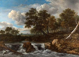 Ruisdael | Landscape with Waterfall | Giclée Canvas Print