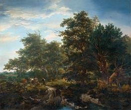 Ruisdael | Forest Landscape, 1653 | Giclée Canvas Print