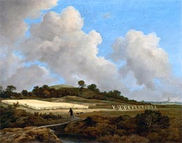 Ruisdael | View of Grainfields with a Distant Town | Giclée Canvas Print