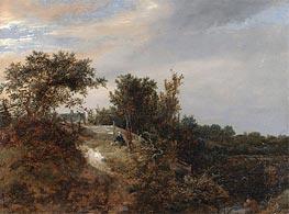 Ruisdael | A Landscape with a Stream, 1647 | Giclée Canvas Print