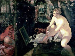 Tintoretto | Susanna and the Elders, c.1555/56 by | Giclée Canvas Print