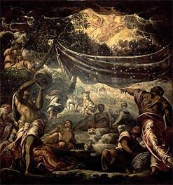 Tintoretto | The Fall of Manna, 1577 | Giclée Canvas Print