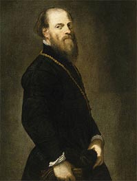 Tintoretto | Gentleman with a Gold Chain, c.1555 | Giclée Canvas Print
