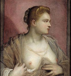 Tintoretto | Lady Baring her Breast, c.1555 | Giclée Canvas Print