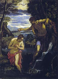 Tintoretto | The Baptism of Christ, c.1585 | Giclée Canvas Print