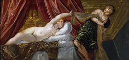 Joseph and the Wife of Potiphar, c.1552/55 by Tintoretto | Giclée Canvas Print