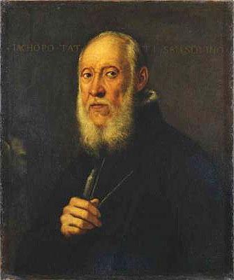 Portrait of Jacopo Sansovino, 1571   Tintoretto   Painting Reproduction